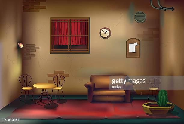 room - domestic room stock illustrations, clip art, cartoons, & icons