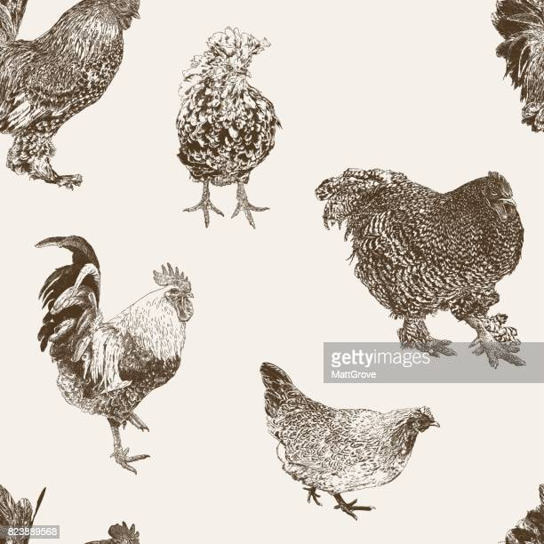 rooster repeat - cockerel stock illustrations, clip art, cartoons, & icons