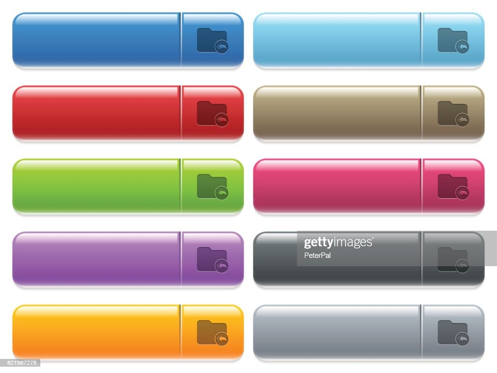 Root directory icons on color glossy, rectangular menu button