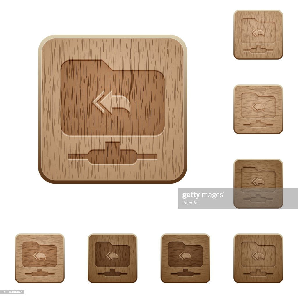 FTP root directory wooden buttons