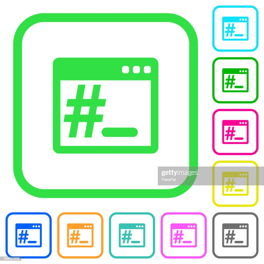 Root terminal vivid colored flat icons icons