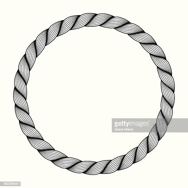 rope circle - vector - rope stock illustrations