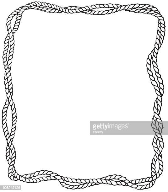 rope frame - rope stock illustrations