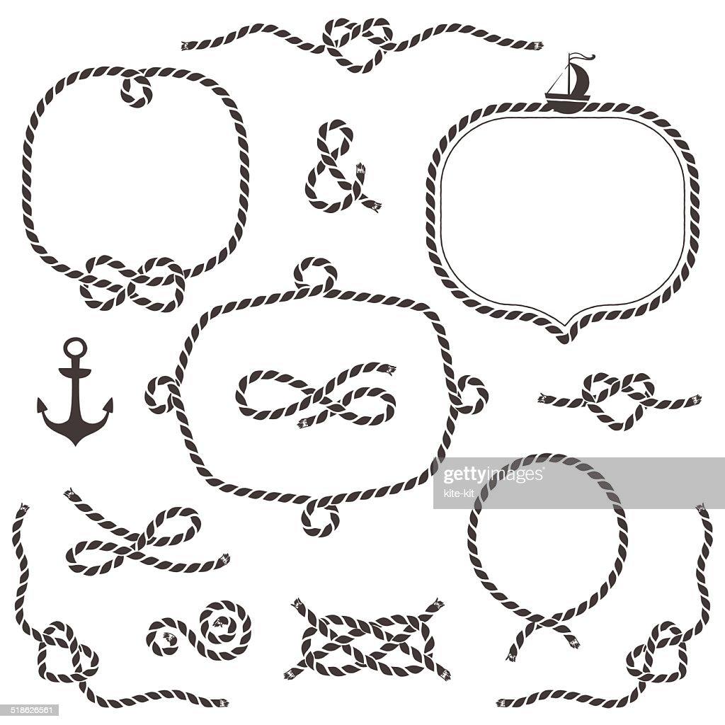 Rope frames, borders, knots.