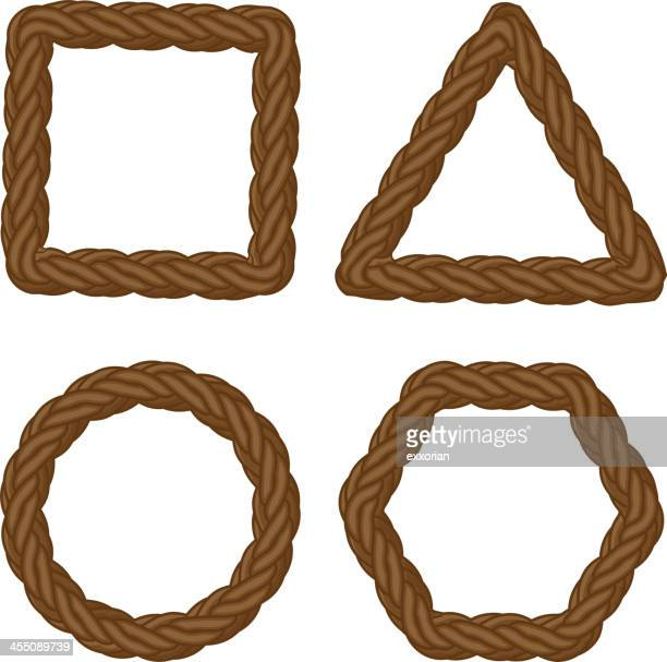 rope icon - braided hair stock illustrations, clip art, cartoons, & icons