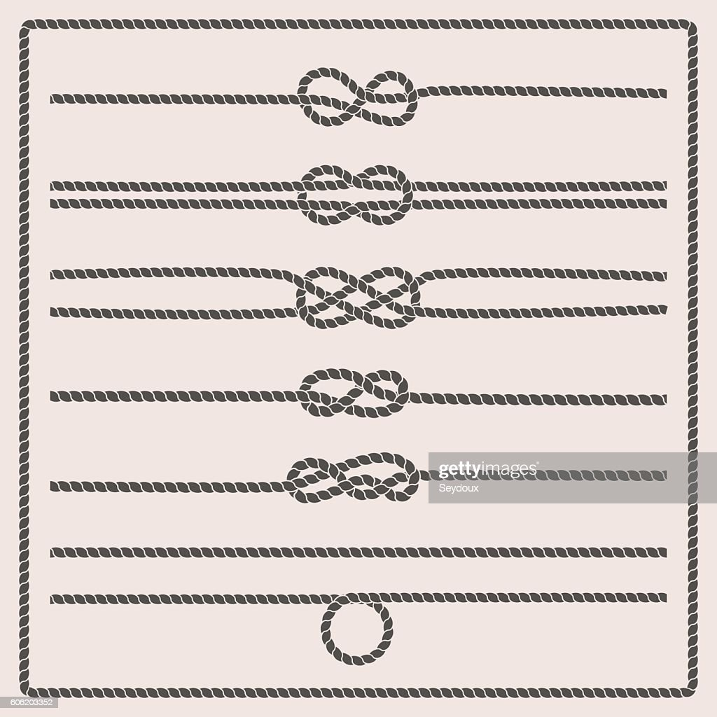 Rope knots vector illustration