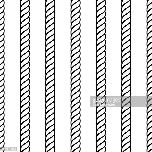 rope rows seamless background pattern - rope stock illustrations