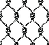 Rope seamless tied fishnet pattern