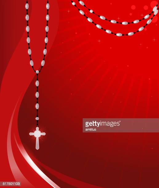 rosary background - rosary beads stock illustrations