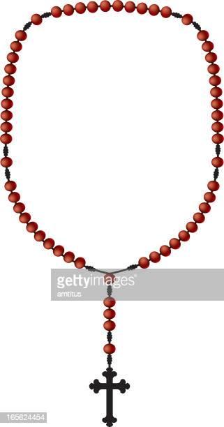 rosary beads - rosary beads stock illustrations