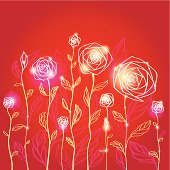 Rose. Abstract floral background.