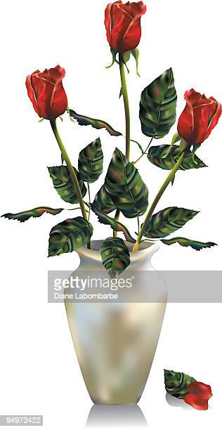 Rose Anordnung-Mesh mit Farbverlauf