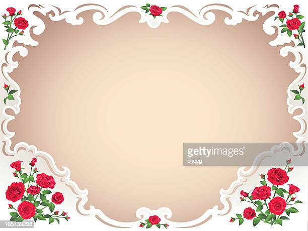 rose border - filigree stock illustrations