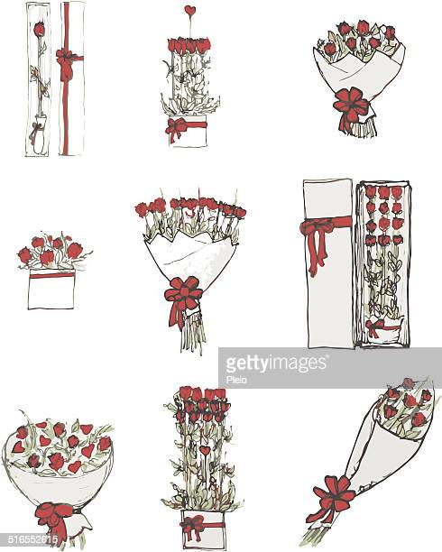 Rose bouquets and arrangements valentines gift selection