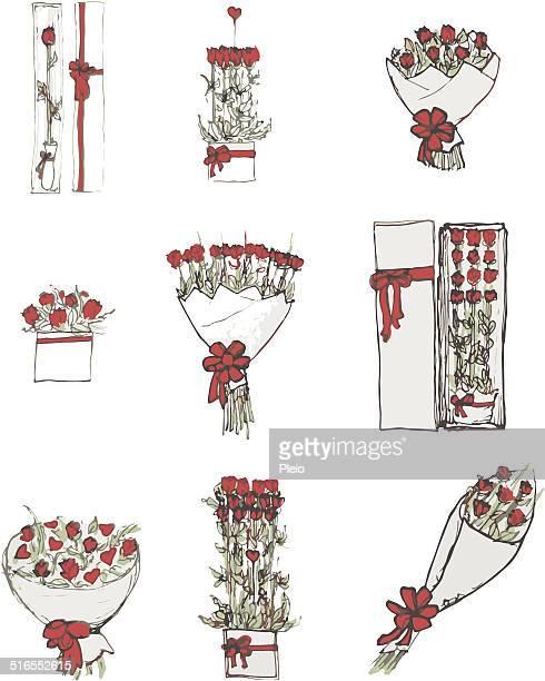 Rose Blumensträuße und arrangements Valentinstag-Angebot