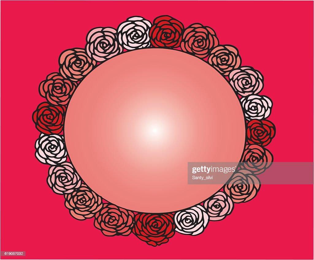 Rose Flower Cute Frame Beautiful Wedding Invitation Simple Doodle ...