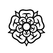 Rose (Queen of flowers). Flower from The Garden of Eden; Paradise flower. The symbol of love and passion, beauty and perfection; also heraldic emblem.