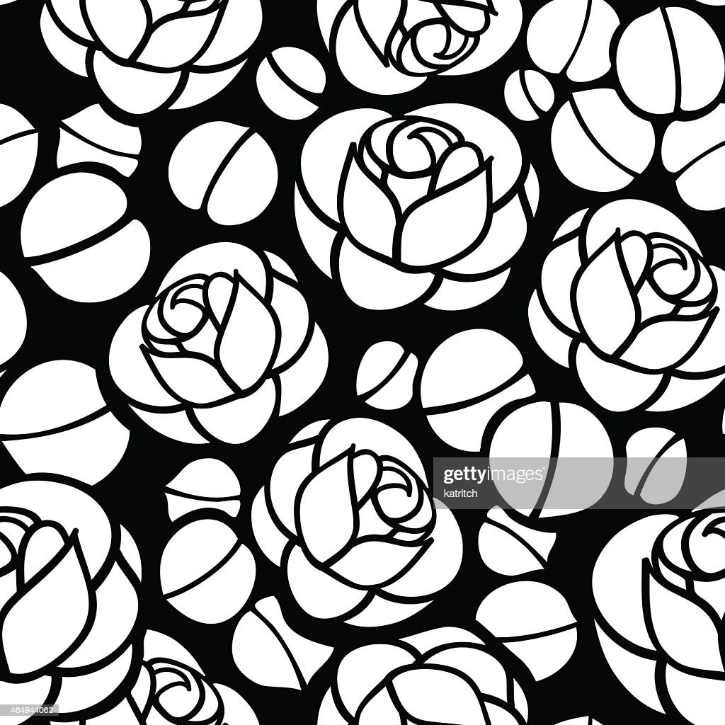 Rose flowers seamless background