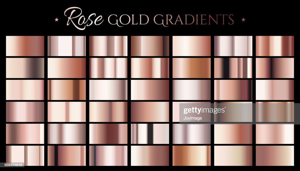 Rose gold color gradient