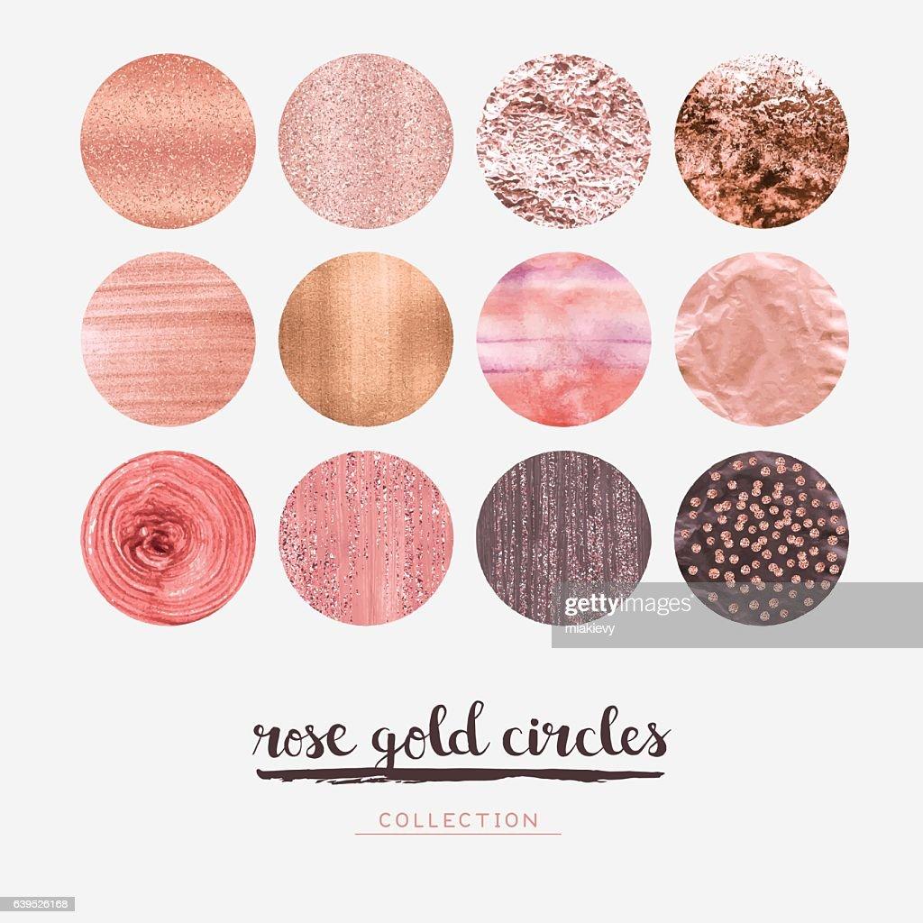 Rose gold glitter circles : ベクトルアート
