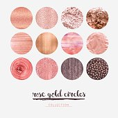 Rose gold glitter circles