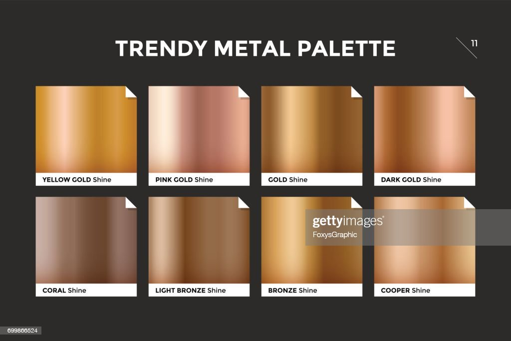 Rose gold gradient template, vector icon