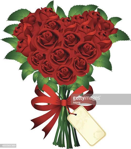 Rose Bouquet mit Herz