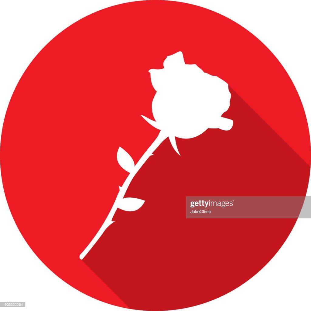 Rose-Symbol Silhouette : Stock-Illustration