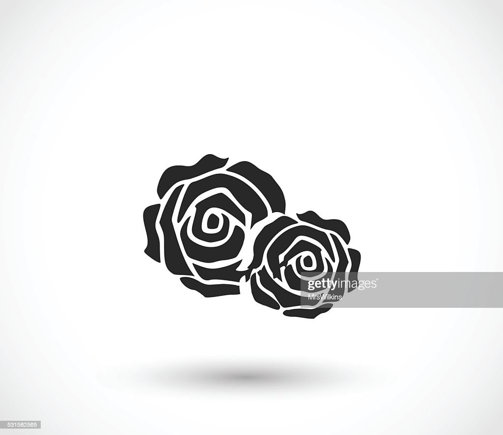 Rose icon vector illustration