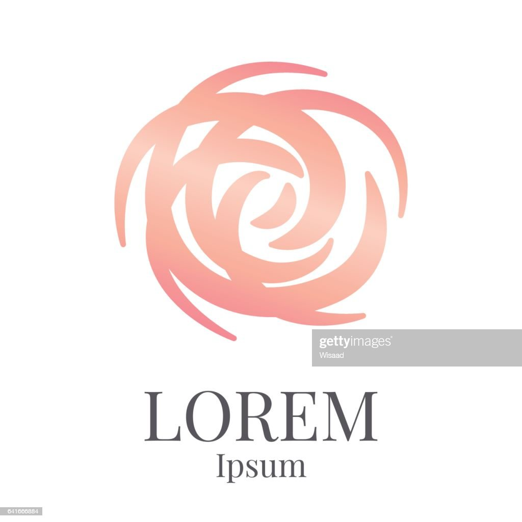 rose logo design template