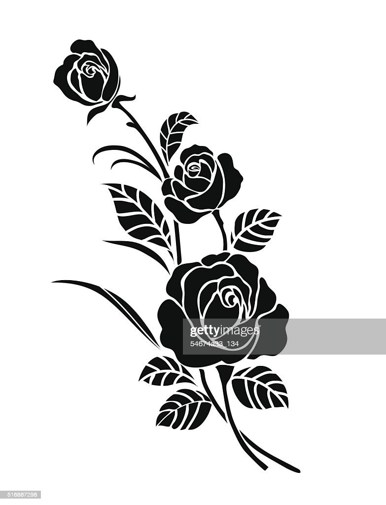 Rose motif for design.
