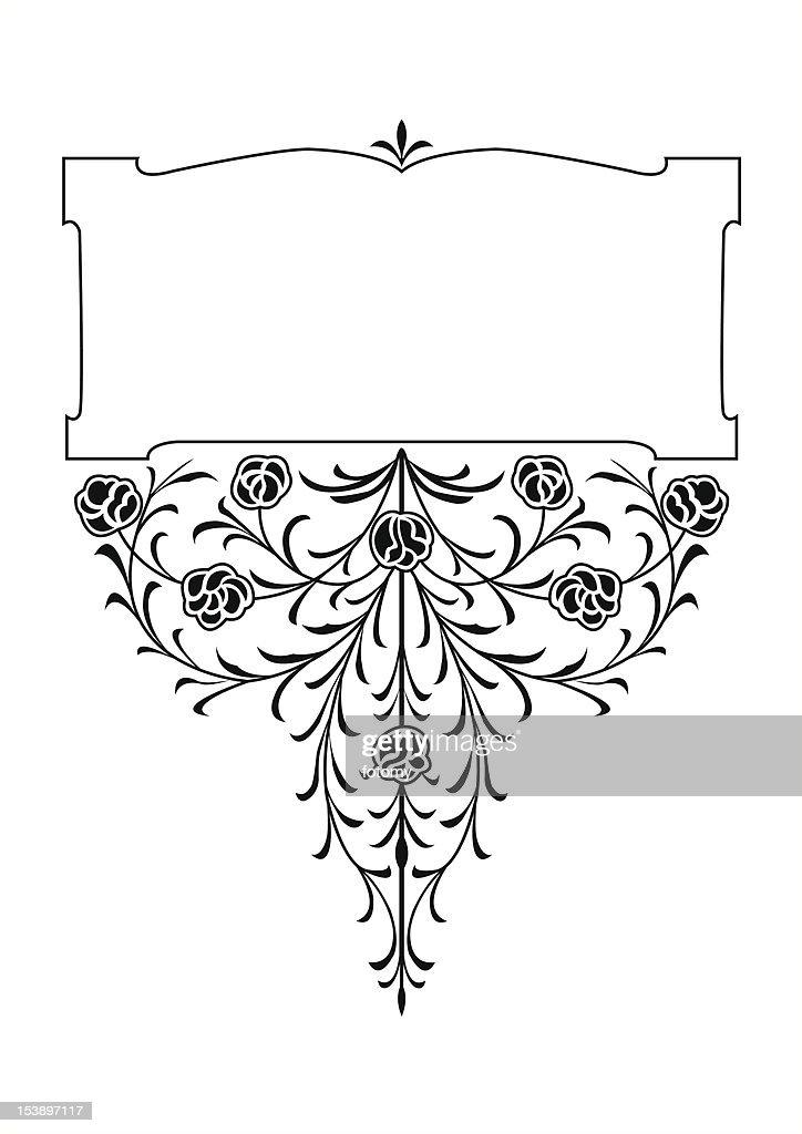 rose patern book scroll