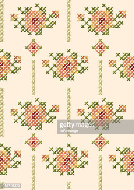 rose pattern. - embroidery stock illustrations