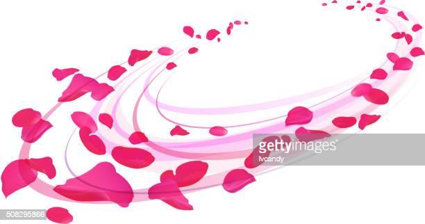 rose rosenblätter - blütenblatt stock-grafiken, -clipart, -cartoons und -symbole