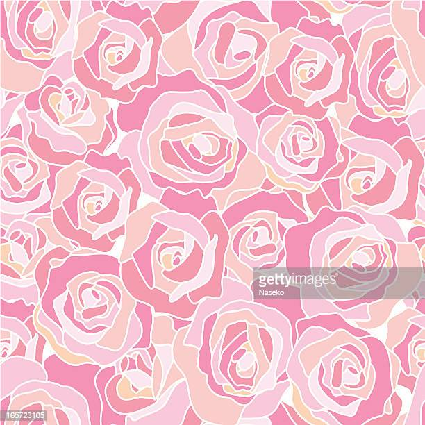 roses - seamless texture - batik stock illustrations