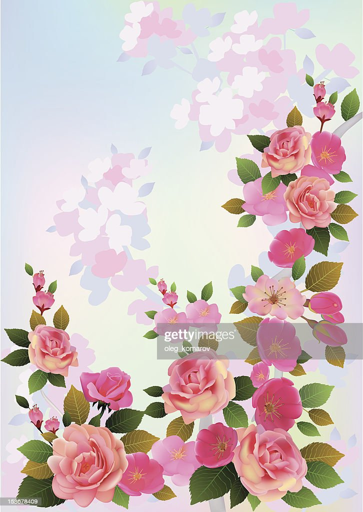 Roses . Spring bouquet of flowers