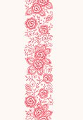 Roses Vertical Lace Seamless Pattern.