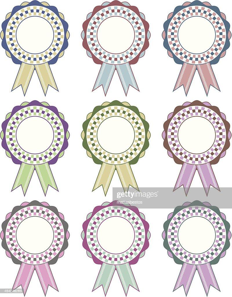 rosette decorations : Vector Art