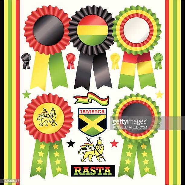 rasta rosettes - rastafarian stock illustrations, clip art, cartoons, & icons