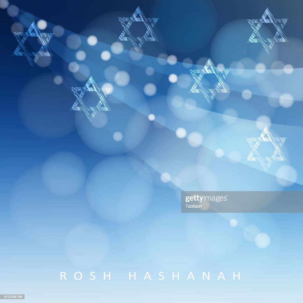 Rosh Hashanah Jewish New Year Holiday Hannukah Greeting Jewish Stars