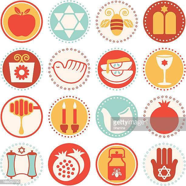 Rosh Hashanah-Yom Kippur - Circle Icons/Seals