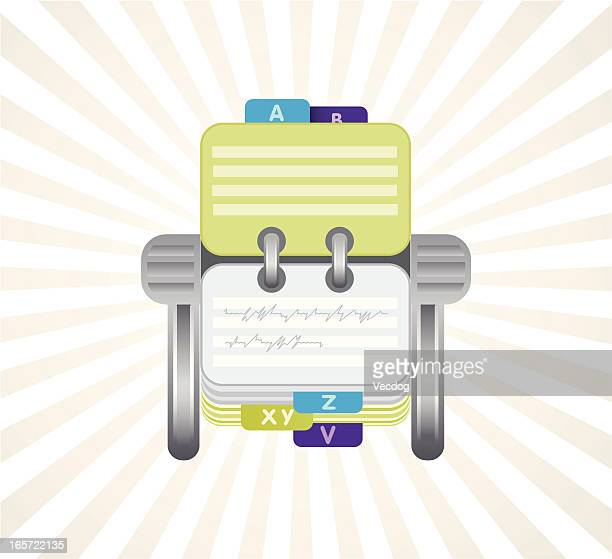 rotary card file - rolodex stock illustrations, clip art, cartoons, & icons