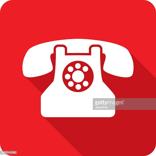 Rotary Phone Icon Silhouette