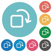 Rotate element flat round icons