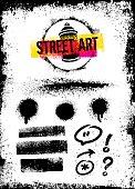 Rough Grunge Urban Street Art Graffiti Vector Design Elements Set