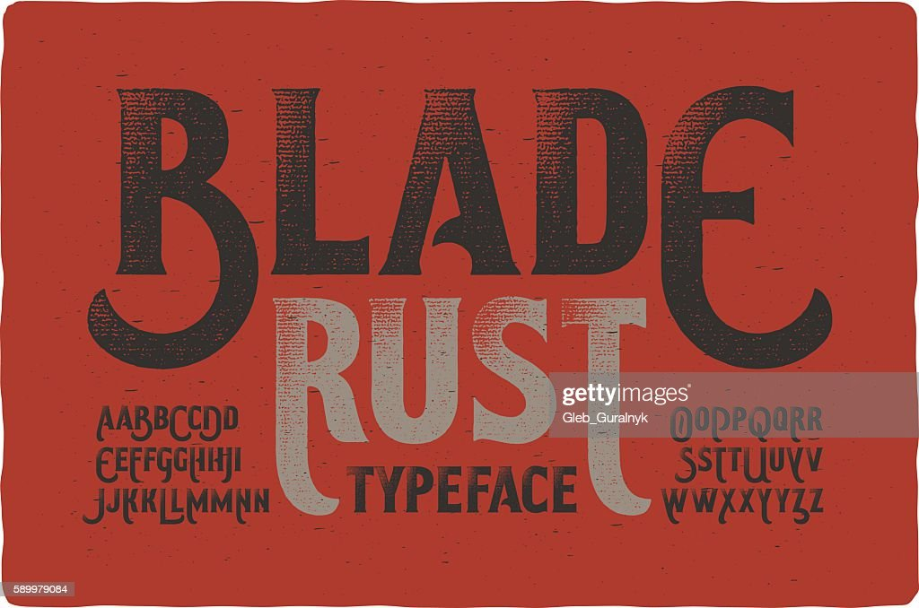 Rough vintage typeface on bloody dirty background