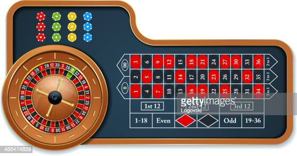 roulette table - roulette stock illustrations