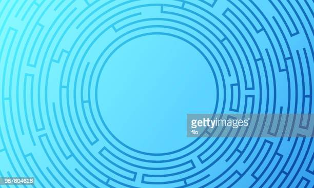 round abstract maze background - road marking stock illustrations