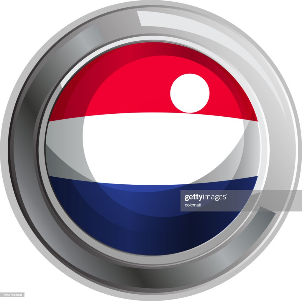 Round badge for Netherland flag