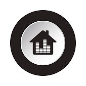 round black,white button-house with equalizer icon